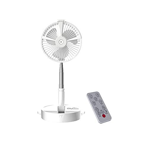 Nachar Ventilador de pie portátil, ventilador de escritorio plegable, ventiladores de piso con pedestal ajustable con control remoto, ventilador USB silencioso con batería recargable de 7200 mAh