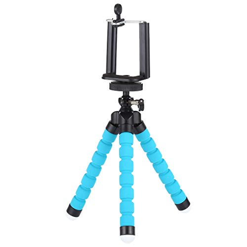 TOTO 170 mm Flexible Folding Tripod Black and Blue Max 1 kg Suitable for DSLR Camera Smartphone Tripod Tripode Tripod Tripod