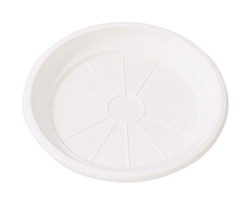 Hobby & Style 5772.0 Soucoupe pour Pot rotin, Blanc, 24 x 24 x 3 cm