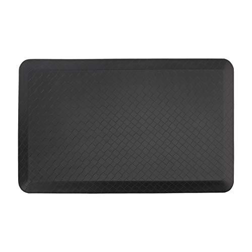 Amazon Commercial Tapis anti-fatigue de qualité supérieure pour confort en position debout à la maison et au bureau, 50,8 x 81,2cm - Noir