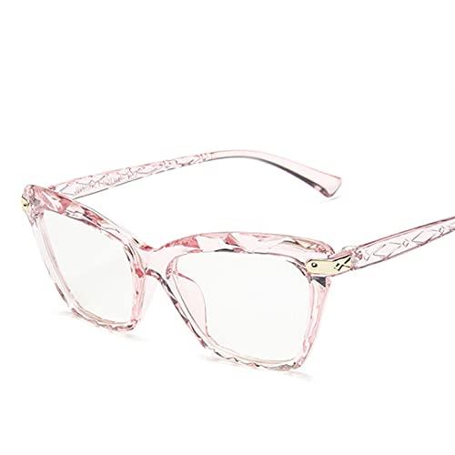 Pc Gafas ultraligeras anti-bloqueo de luz azul para mujer Gafas de sección poligonal Rosa