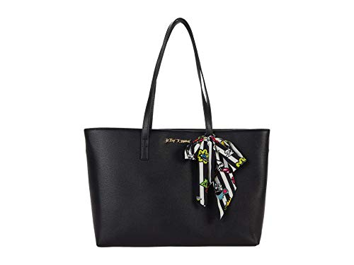 Betsey Johnson XO Zaria Tote with Wristlet and Scarf Black Multi One Size