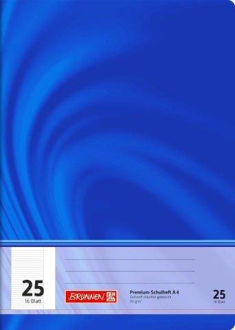 Schulheft/Schreibheft Vivendi Edition (Lineatur 25 (liniert mit Rand) - Din A4 / 16 Blatt) PREMIUM QUALITÄT