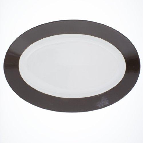Kahla - Porcelaine pour les Sens 573306A72605C Pronto Colore Plateau Ovale Brun Chocolat 32 cm