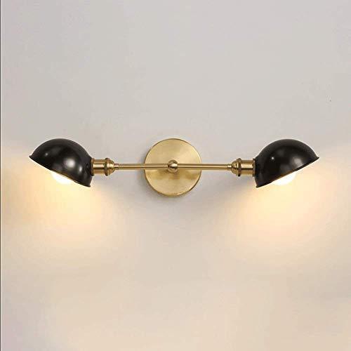 SXFYWYM Retro Spiegel Industrial Light Black Wandlamp, slaapkamer, hoofdlamp, creatief, eenvoudige badkamerverlichting