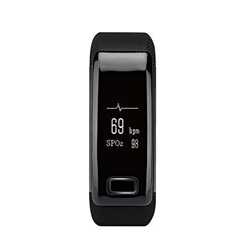 YUNTAB Braccialetto C9 0.71' LCD display di Fitness Tracker Bluetooth con monitoraggio della pressione cardiaca e della frequenza cardiaca, pedometro impermeabile a banda di braccialetto sportivo con contatore Step / Calorie / Sleep Tracker per Android, iPhone IOS smartphone NERO