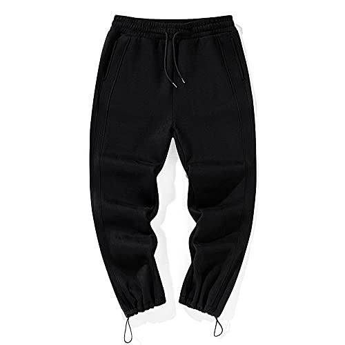 Yikesnt Pantalones Casuales para Hombre Primavera y otoño Pantalones de Jogging al Aire Libre con Personalidad de Todo fósforo para jóvenes con Bolsillos y cordón M