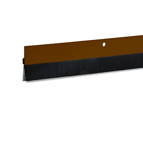 1 x Türdichtung / Türbürste aus Aluminium (braun, 1m, 1 Stück)