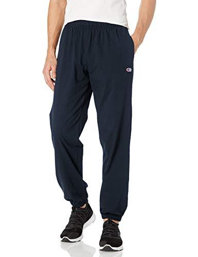 Champion Herren-Sweathose mit geschlossener Unterseite, leicht, Jersey - Blau - Groß
