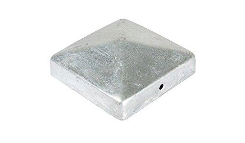 meingartenversand.de Schnäppchen 10 x Abdeckkappen für Zaunpfosten/Pfostenabdeckung mit Pyramide - Kopf 9 x 9 cm aus Stahl, verzinkt zum Angebots Preis