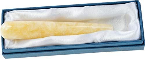 Baton de massage calcite orange 1,5 X 10 cm - la pièce