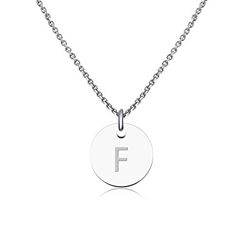 good.Designs Collar con letras en plata,...
