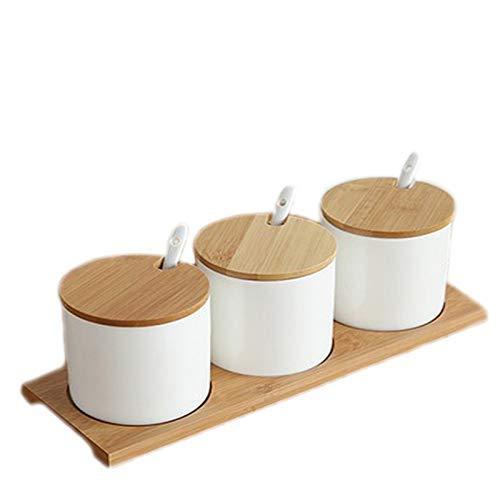 N /A YYHEN Einfaches Leben Keramik Küche Lebensmittelbehälter Veranstalter Gläser für Gewürze Zuckerdose Gewürzbox