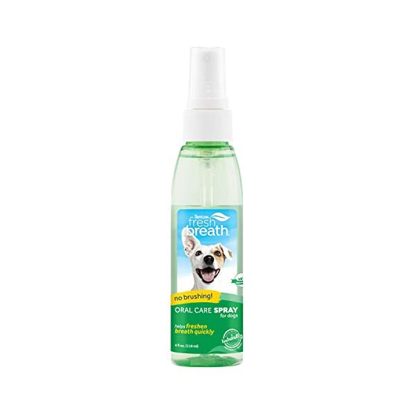 Fresh Breath by TropiClean Oral Care Spray for Pets, 4oz – Made in USA