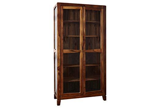 palissandro mobili in legno massello laccato VETRINA Sheesham in legno massello legno massello marrone ANCONA #116