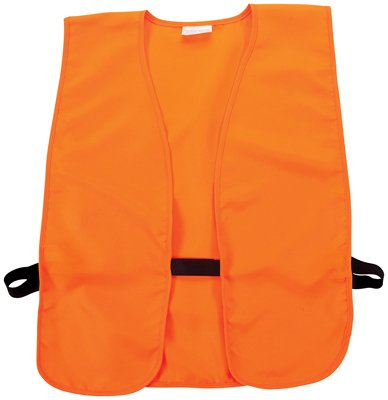 Allen Company Adult Unisex Safety & Hunting Vest, Fits up to 60 Inch Chests, Blaze Orange