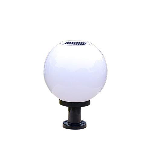 Bola de energía solar Redondo Exterior Exterior Farol Impermeable LED Lámpara de columna Moderno corredor Pared Jardín Paisaje Blanco PC Pantalla Clásico A prueba de lluvia Luces de pilar
