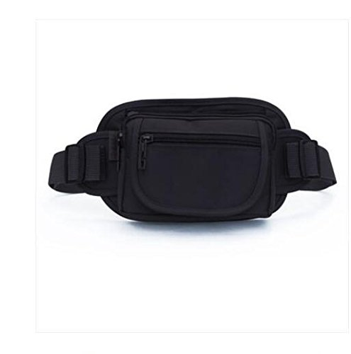 ZYT Portefeuille porte-monnaie plein air voyage forfait de téléphone étanche de document pour les hommes et les femmes exécutant petit sac cool black