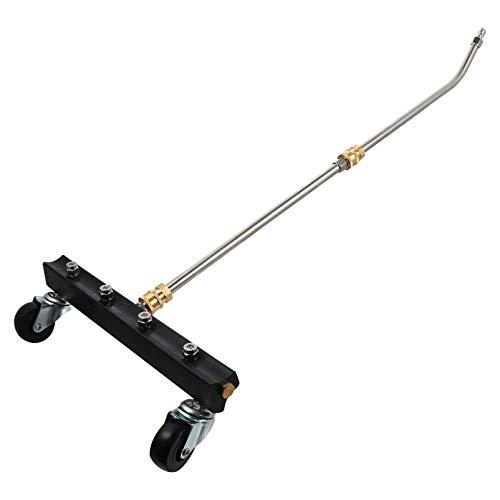 Wakauto Hochdruckreiniger für Unterwagen Hochdruck-Unterbodenschutz-Unterlegscheibe Fahrgestellreinigungsausrüstung für Fahrzeug 1/4 mit Gebogener Gerader Stange