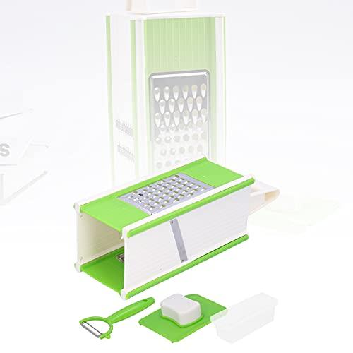 Eulbevoli Rallador de Alimentos, Cortador de Alimentos Mango Antideslizante fácil de Usar para Picar Verduras