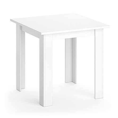 Vicco Esstisch KARLOS Esszimmertisch 80cm Wohnzimmer Küchentisch Tisch (Weiß)