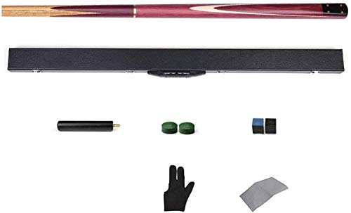 "WEHOLY Pool Cues, 57"" Black Eight British Snooker Billiard Bar Split Single Cue with Extension Not Easy to Deform with Cue Case Pool Cue"