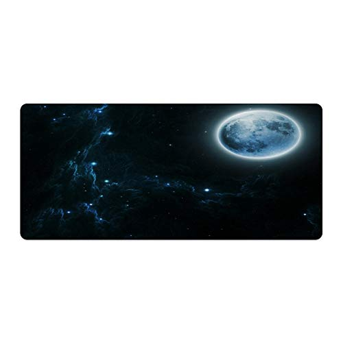 Gaming Mouse Pad Beautiful Dream Moon andStars Art Desktop and Laptop 1 Pack 750x400x3mm/29.5x15.7x1.1 in