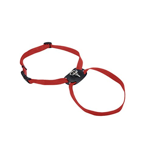 Coastal Pet -Size Right Adjustable Harness Red 12 to 18 Inches, Width 3/8