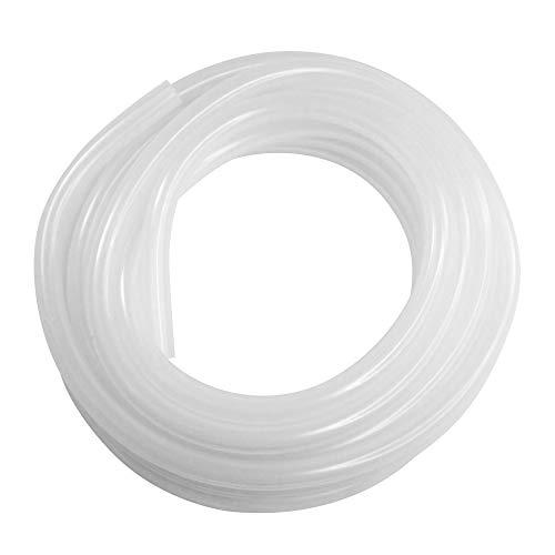 White SiliconeTubing, 1/2'ID, 3/4'OD, 1/8'Wall, 10' Length