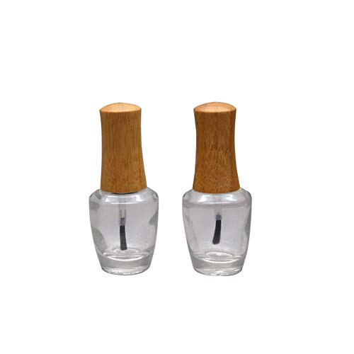 Empty Nail Polish Bottles with Bamboo Lid