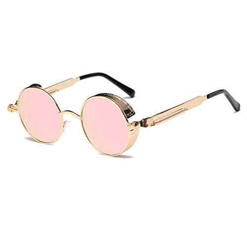 Nsdsb Gafas De Sol Steampunk Marco Redondo Patas De Espejo De Resorte Gafas De Sol Decorativas C2 Marco Dorado En Polvo