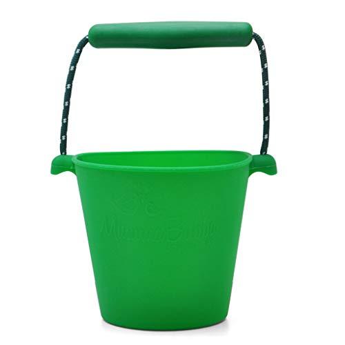 MXueei Le Seau de Bain Pliable de Plage de Silicone campant des Jouets des Enfants Multicolores (Color : Green)
