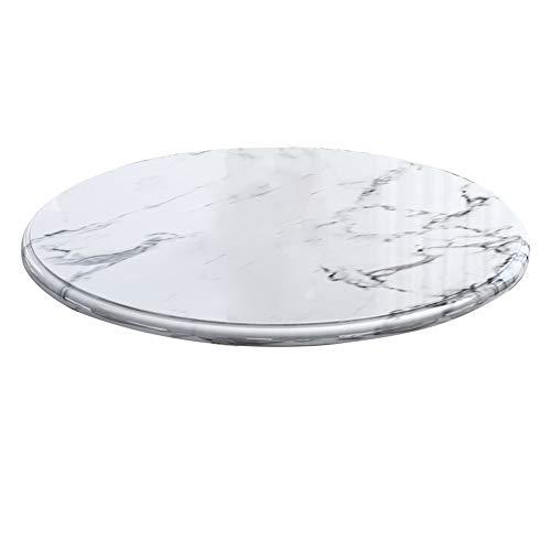 HDRH Drehplatte Marmor Lazy Susan Drehteller 80/90cm Serviertablett, Heavy Duty Servierplatte, Drehbrett Für Gartentisch & Küchentisch