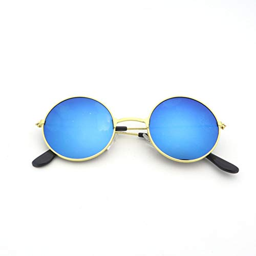 Las mujeres hombres de aleación redonda gafas de sol masculino femenino metal gafas de sol vintage círculo gafas de sol feminina moda gafas diseñador para las señoras