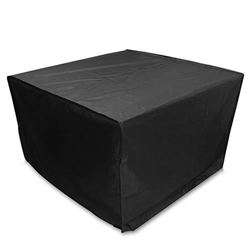 AING-COVER Housse deAING-Cover Housse de Protectio Cube De Plein Air Jardin Table Et Chaise Housse De Protection, Imperméable Crème Solaire (Couleur : Noir, Taille : 150 * 150 * 73cm)