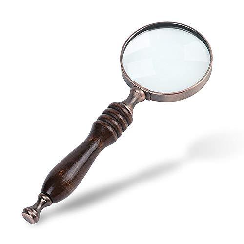 Gobesty Lupe Antik Handlupe, Retro Handlupe 5-fache Handlupe zum Lesen Magnifier Vergrößrungglas für Senioren, Kinder, Inspektion, Hobby, Handwerk, Uhrmacher