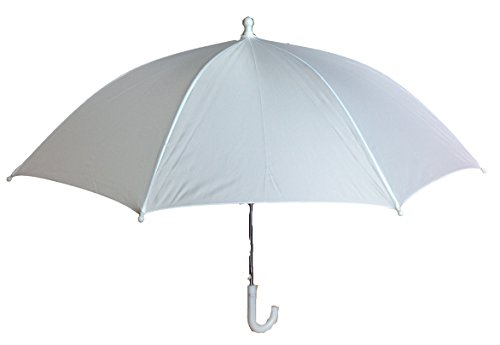 "Bridal Shower Wedding White Nylon Umbrella Parasol 26"" opening Waterproof"