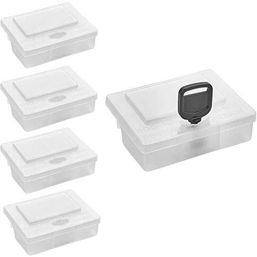 satis 5 x Köderbox für Mäusegift I Extrem sichere und effektive Köderstationen für Giftköder I Transparente Mäuseköderbox für Mäuse I Maus, Wühlmaus, Feldmaus vertreiben