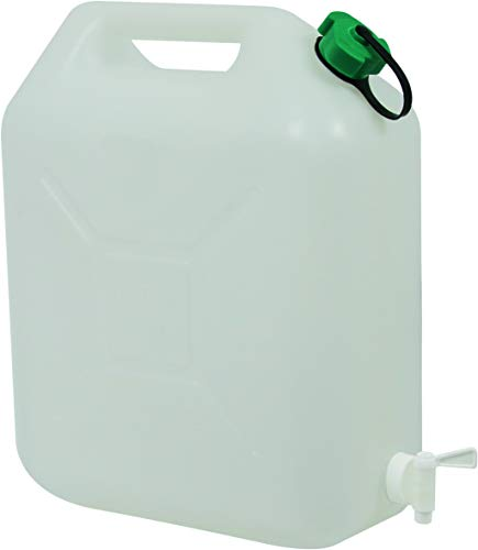EDA Jerrican Alimentaire 20 L blanc extra fort avec Robinet