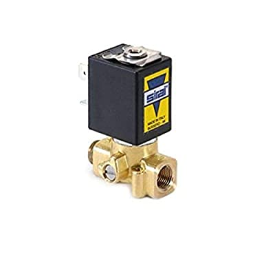 """Sirai L172VB021B12AF1 Brass Body Direct Acting Subminiature Solenoid Valve, 1/8"""" Pipe Size, 2-Way Normally Closed, Fluorocarbon Elastomer Sealing, 1/16"""" Orifice, B12A DIN Coil, 0.08 Cv Flow, 24V/DC from ASCO Valve Inc."""