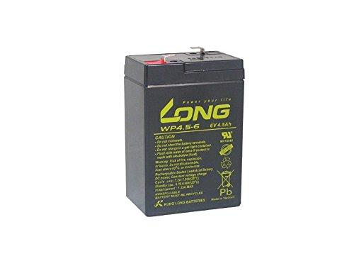 Preisvergleich Produktbild 4, 5Ah 6V Akku Batterie Powerline AGM Blei Gel wie 4Ah 4, 2Ah 4, 5Ah,  5Ah kompatibel