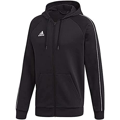 adidas CORE18 FZ Hoody Sweatshirt, Hombre, Black/White, XL