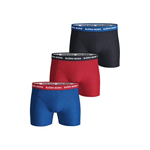 Björn Borg Herren Shorts NOOS Contrast Solids 3p Boxershorts, Blau (Skydiver 71191), M (3er Pack)