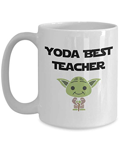 Yoda Best Teacher Gift For Friend Wonderful Funny Teacher Taza para novia