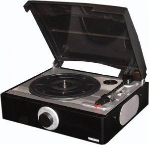 Plattenspieler PH 5000 mit Integrierte Lautsprecher Nostalgie Retro Look Turnable