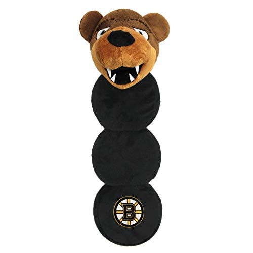 Pets First NHL Boston Bruins Mascot Long PET Toy for Dogs & Cats with 4 Inner SQUEAKERS in Soft Plush, one Size (BRU-3226)