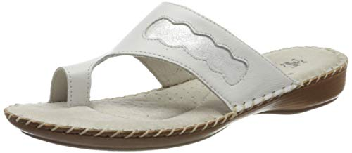 Jana 100% comfort Damen 8-8-27108-24 Pantoletten, Weiß (White 100), 40 EU