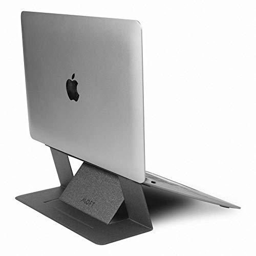 DesignNest - Supporto per Laptop Invisibile MOFT. Supporto per Laptop Pieghevole con Altezza Regolabile per MacBook, Air, PRO, Tablet e Laptop Fino a 15.6 Pollici (Grey)