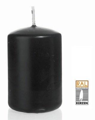 Noir Bougie Cylindre 60 x 30 mm, 40 pcs Bougies, de Belle qualité