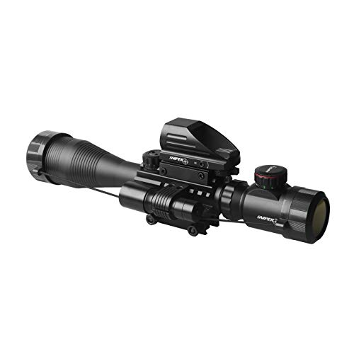 Fantastic Deal! Sniper ST 4-16x50 Scope Combo Includes Laser Sight and Holographic Dot Sight